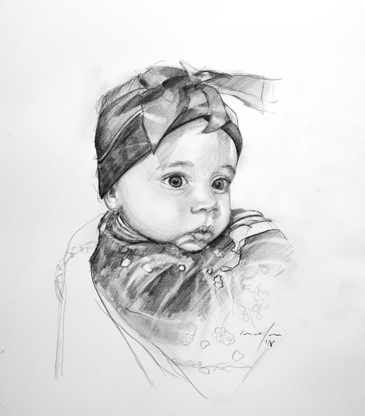 Rupert Cefai - portrait baby eve