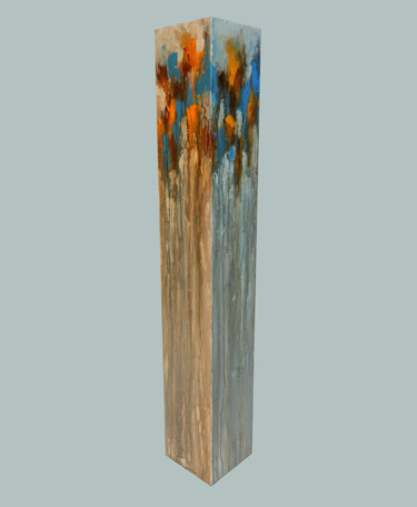 totem: blue, orange on buff titanium
