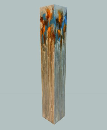 totem: blue, orange on buff titanium