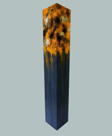 totem: orange on blue