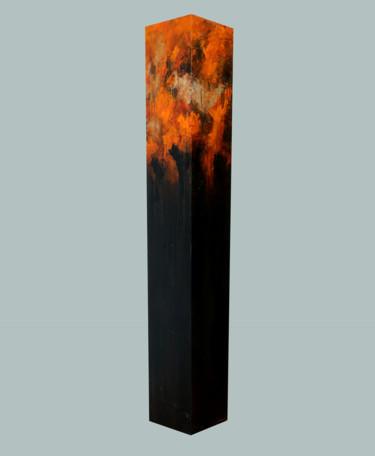 totem: Orange on Dark Brown