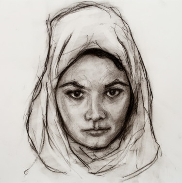 Study portrait of D for Mariam